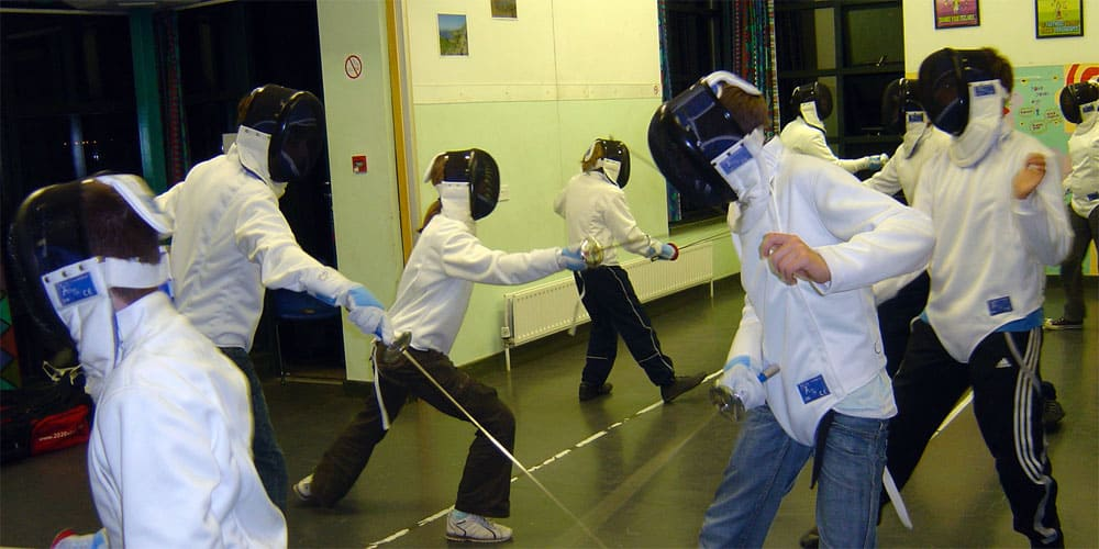 fencing after school activities for young people