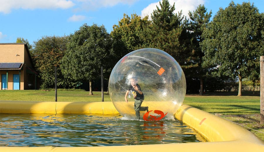 zorbing outdoor learning activities for young people